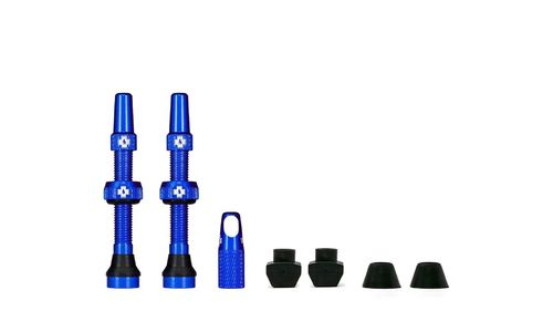 Muc-Off Tubeless Valve Kit 44 mm, Blue (1 pair)