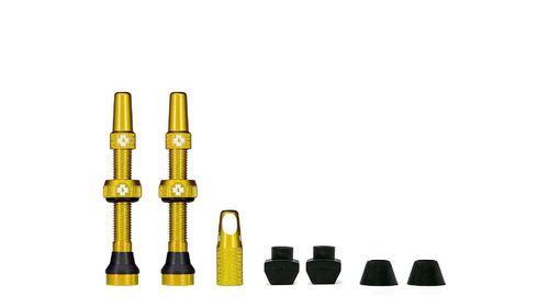 Muc-Off Tubeless Valve Kit 44 mm, Gold (1 pair)