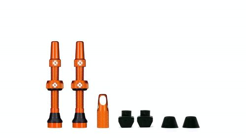 Muc-Off Tubeless Valve Kit 44 mm, Orange (1 pair)