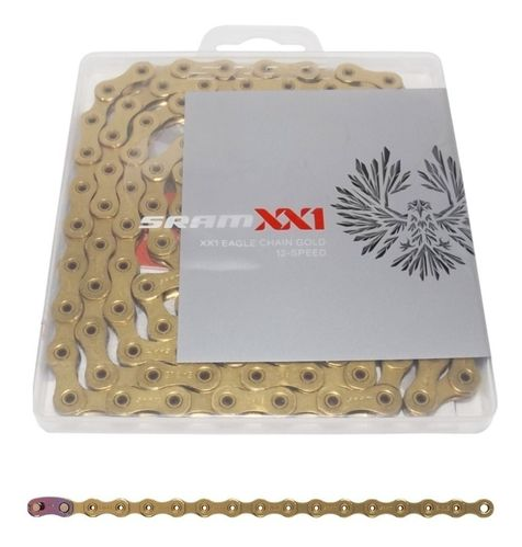 SRAM XX1 Eagle Gold Chain 12 Speed, Hollow Pin 126L